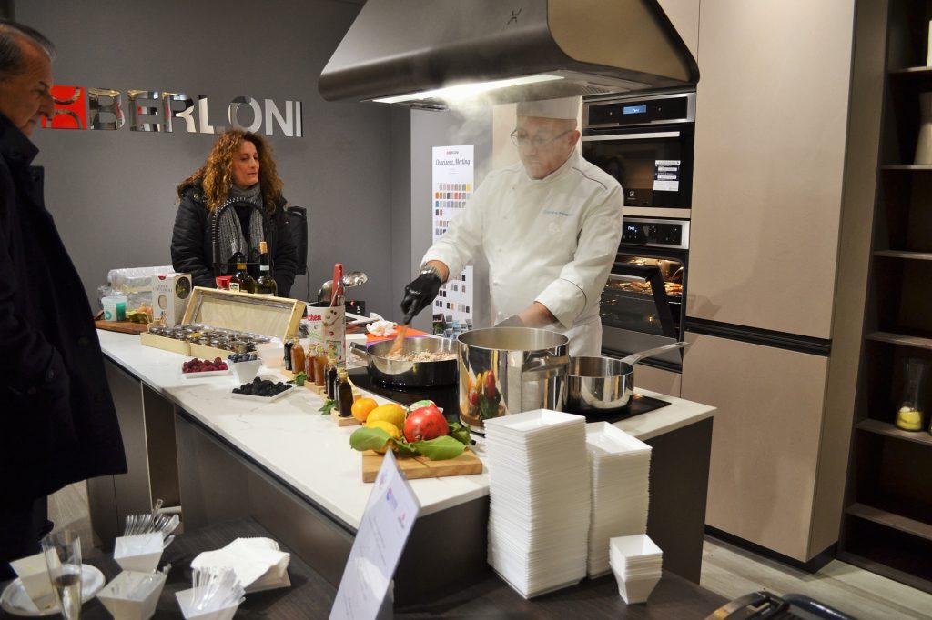 cucine berloni show cooking daniele paralovo al centro dell'arredamento ligure