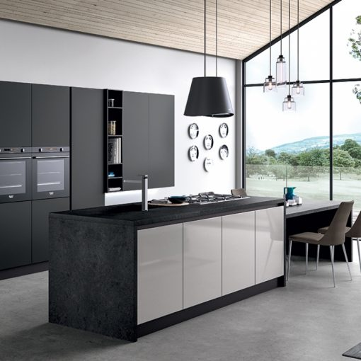 cucina modello glass arredo3 al centro dell'arredamento ligure