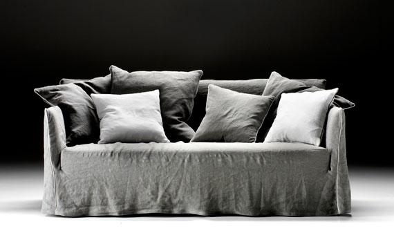 divano easy by dona grigio tessuto diamond scontato al centro dell'arredamento ligure