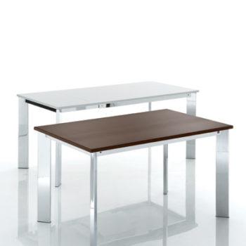 tavolo evo eurosedia bianco e marrone
