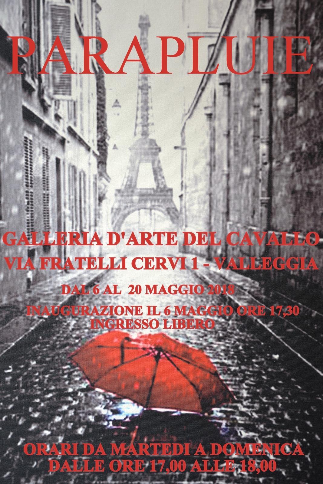 mostra di ombrelli artistici presso la Galleria del Cavallo di Quiliano