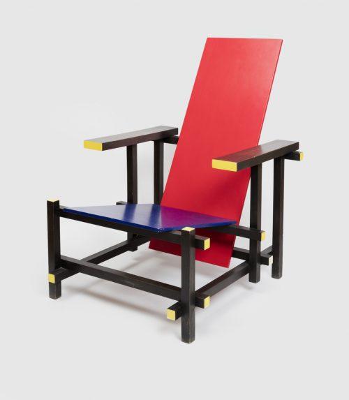 sedia rosso blu rietveld storia centro dell'arredamento ligure