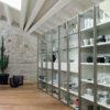 centro dell'arredamento ligure libreria vetro