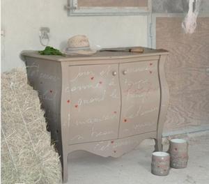Credenza renoir tortora scritte shabby centro arredamento for Centro dell arredamento