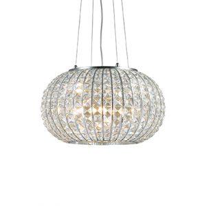 lampada a sospensione calypso by ideal lux cristalli al centro dell'arredamento ligure