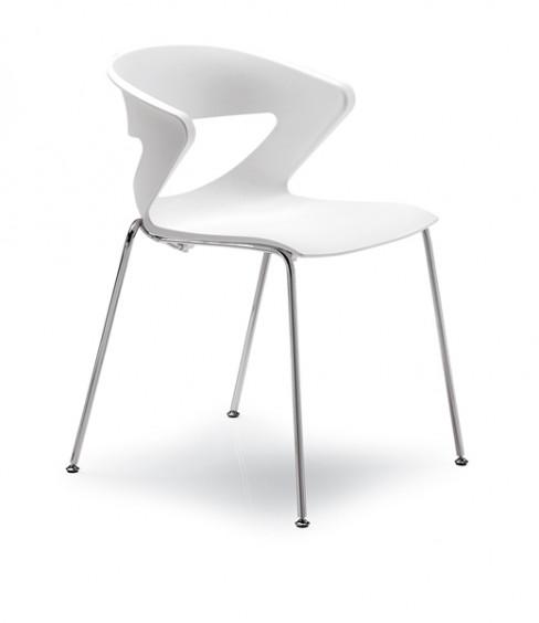 sedia moderna bianca kicca by kastel al centro dell'arredamento ligure