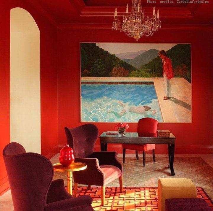 stanza interni rosso centro dell'arredamento ligure finiture