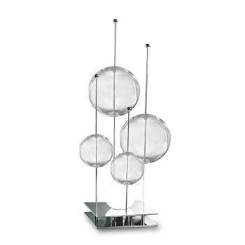 lampada da tavolo sil lux moderna bolle cristallo al centro dell'arredamento ligure
