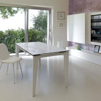 tavolo moderno bianco ceramica allungabile stones modello ceramica 2