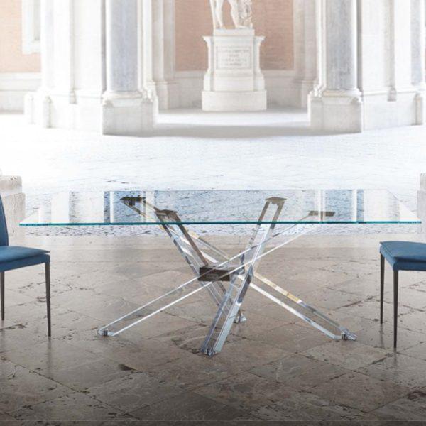 Centro dell 39 arredamento savona tavolo moderno living riflessi for Centro convenienza tavoli e sedie