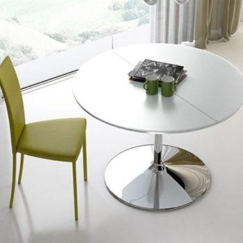 tavolo rotondo allungabile small by riflessi al centro dell'arredamento ligure