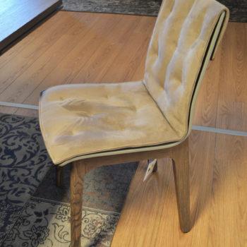 sedia alfa tortora legno massello olmo bontempi al centro dell'arredamento ligure