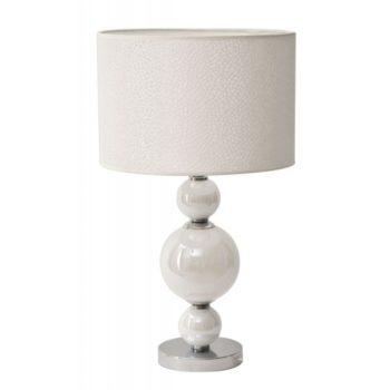 lampada da tavolo bianca moderna ferretti al centro dell'arredamento ligure