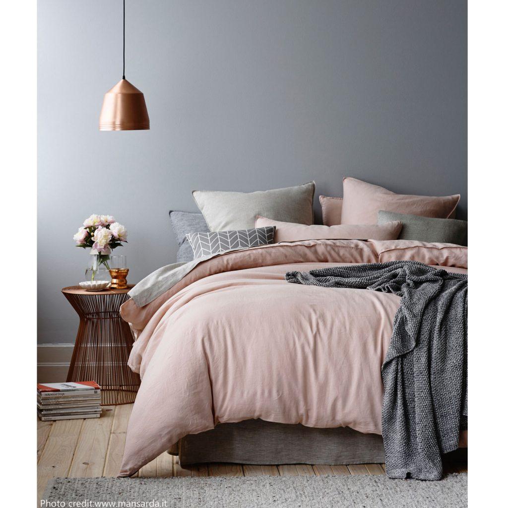 camera da letto in stile nordico articolo centro dell'arredamento ligure