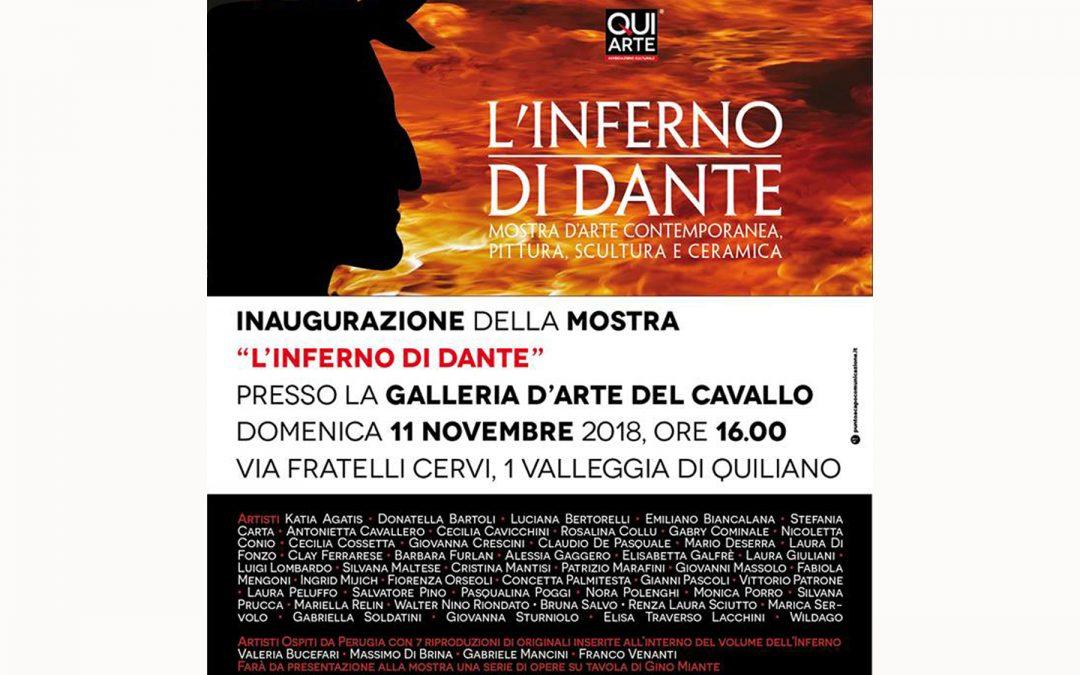 """Mostra """"L'INFERNO DI DANTE""""  Mostra d'arte contemporanea, pittura, scultura, ceramica - Galleria del Cavallo"""