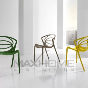 sedia gialla maxhome in offerta al centro dell'arredamento ligure