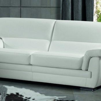 excò sofa divano bobois bianco in pelle centro dell'arredamento ligure