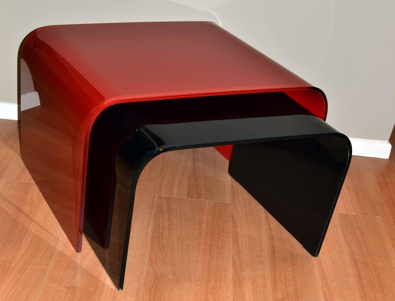 Bis Tavolino rosso e nero – Moscheni